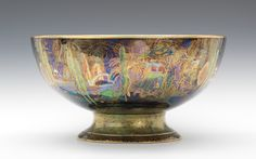 A Wedgwood Fairyland Lustre Footed Bowl, ca. 1930