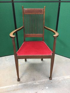 Antique Mahogany Inlaid Arts And Crafts Carver Chair