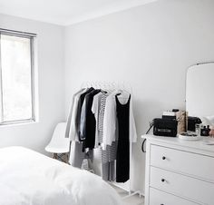 Most design ideas minimalist closet before and after picture Dream Bedroom, Home Bedroom, Bedroom Decor, Bedrooms, Minimalist Closet, Minimalist Decor, Minimalist Bedroom, My New Room, My Room