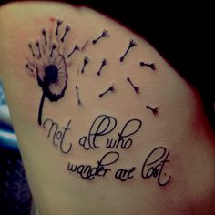 Not all who wander are lost tattoo