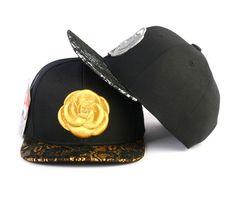 [바보사랑] 로즈데이에 장미말고 장미자수 모자선물 어때요? /스냅백/모자/힙합모자/패션모자/스냅백모자/장미/자수/골드/Snapback/Hat/Hip-hop Style/Fashion/Rose/embroidery/Gold
