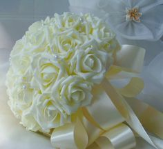 Find More Wedding Bouquets Information about 2015 Cheap  Wedding Bouquet Bridal Bridesmaid Flower Blue/Purple/Pink/Ivory Artificial Flower Rose Bride Bouquets buque de noiva,High Quality rose flower lamp,China rose flower fairy Suppliers, Cheap rose cut flower from cutebridal on Aliexpress.com