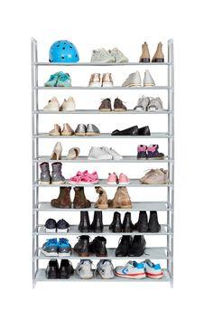 Material : Metal, Fabric, Plastic Dimensiuni : cm Brand : Love it Store it Shoe Rack, Plastic, Fabric, Shoes, Houses, Tejido, Tela, Shoes Outlet, Shoe Cupboard