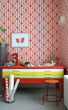 Basket weave Removable Wallpaper (Self adhesive) – thediyhomedecor.com Deco  Orange c8633fa2d6d
