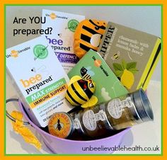 Win a BEEautiful selection of Bee goodies  Including BEE Prepared immune support