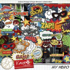 ISO Superhero kit - DigiShopTalk Digital Scrapbooking