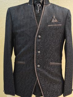 Look tasteful, simple, and appropriate and wear comfortable, these groom wedding tuxedos are your choice. Made of high quality material, the groom wedding tuxedos suit looks great and are valuable, durable for long time use and wear comfortable. This men suit comes with blezer and silk pent. Our price: 6,899.00