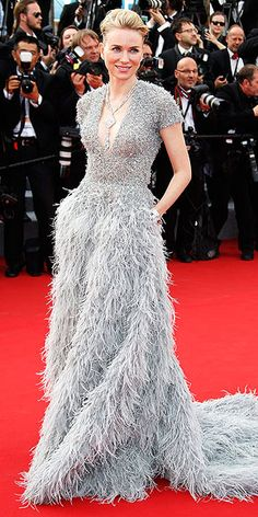 The Best and Boldest Looks from the Cannes Red Carpet!   NAOMI WATTS   in a powder blue Elie Saab Haute Couture gown for the festival's opening ceremony of La Tête Haute.