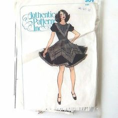 Square Dance Dress Pattern Pointed Over Skirt Authentic 309 Cut as 14 16   eBay