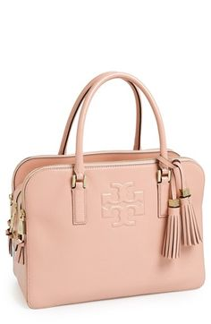 Free shipping and returns on Tory Burch 'Thea' Patent Leather Triple Zip Satchel at Nordstrom.com. This refined satchel cut from lustrous pebbled leather will carry you through the week in impeccable style. Slender rolled handles and an abundance of spacious compartments make this bag a workday must-have, while gleaming hardware and a pair of swingy tassels lend polish to weekend ensembles.