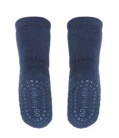Non-slip socks in blue
