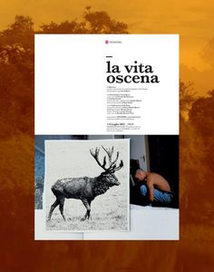 La vita oscena . Poster by Liligutt studio . immagine Giovanni De Francesco