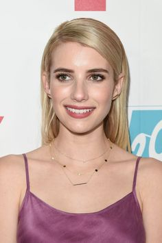 Emma Roberts at 20th Century Fox's Comic-Con 2015 party. http://beautyeditor.ca/2015/07/19/best-celebrity-beauty-looks-ashley-madekwe