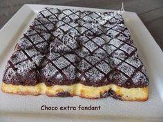 Un gâteau choco extra fondant. Oh quel délice!! Il fond dans la bouche et il est très vite fait! Un régal pour petits et grands.