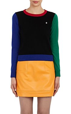 Lisa Perry Colorblocked Cashmere Sweater - Crewneck - Barneys.com