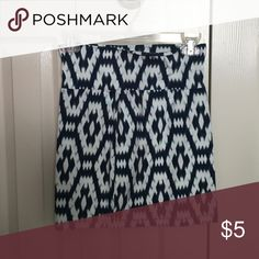 Patterned skirt Blue white and real patterned tight skirt Charlotte Russe Skirts