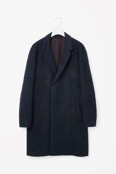 COS image 6 of Oversized wool coat in Navy 250 euro