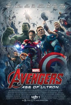 The official poster for The Avengers: Age of Ultron. // I love it, except RDJ's head looks a lil weird....