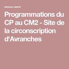 Programmations du CP au CM2 - Site de la circonscription d'Avranches