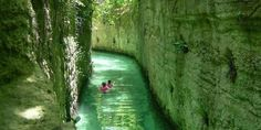 Discover underground rivers and Mayan ruins at Xcaret #travel #roadtrips #roadtrippers - been to the area many times, but never here - need to go!