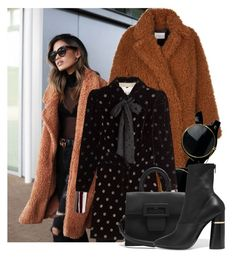 """Teddy Bear Coat"" by marquaysab ❤ liked on Polyvore featuring Maison Margiela and 3.1 Phillip Lim"