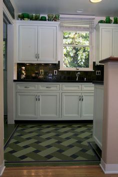 VCT Tile Design Ideas, Pictures, Remodel and Deco rBasket weave tile pattern floor: This basket weave floor is made with VCT by Inlay Floors of Los Angeles. We also travel to the San Francisco Bay Area.