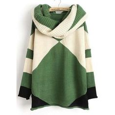 Vogue Round Neck Long Sleeve Color Block Autumn Sweaters