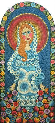 Técnica: Mosaico de Tinta Tamanho: 137 x 61 cm    Tinta plástica sobre madeira com acabamento em verniz marítmo