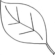 simple leaf outline printable