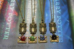 Hogwarts Acceptance Letter  B- Harry Potter Inspired Necklace - Gryffindor Red, Slytherin Green, Ravenclaw Blue or Hufflepuff Black -6140176...