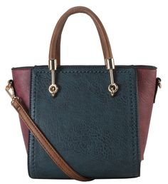 """Diophy PU Leather Two Tone Mini Top Handle Tote Womens Purse Handbag Accented with Removable Strap SE-3394. This handbag comes in 5 different colors: Yellow, Blue, Black, Coffee, and Green. High Quality PU Leather Two Tone Small Top Handle Tote Womens Purse Handbag Accented with Removable Strap. High Quality Fabric Lined Interior with Multiple Interior Pockets. 1 Main Compartment with 1 Zippered Pocket and 2 Open Pockets Inside. Approximate Size info: Length 7.2"""" x Width 5.2"""" x Height…"""