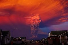 """CLOUDED VIEW Ffion Cleverley (Picture research assistant): """"This incredible multihued photograph of April's eruption of the Calbuco volcano in Chile was taken from the city of Puerto Montt. The eruption resulted in the evacuation of around 1,500 residents from neighbouring towns, and the unfurling ash column reached more than 16 kilometres high."""""""