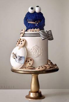 Cookie Monster In The Jar Cake Decoration Patisserie Sesame Street Cupcakes