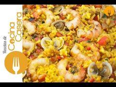 Arroz con almejas y gambas | Recetas de Cocina Casera - Recetas fáciles y sencillas