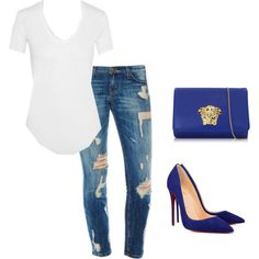 Untitled #69 by akbanks on Polyvore featuring polyvore fashion style Helmut Lang Versace