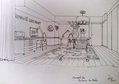 Office sketch | 16-February-2014