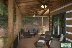 Outdoor Covered Patio - Appalachian Log & Timber Homes