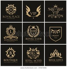 Luxury logo collection,Design for Boutique hotel,Resort,Rest Vip Logo, Monogram Design, Logo Design, Spartan Logo, Royal Logo, Crest Logo, Education Logo, Education Galaxy, Luxury Logo