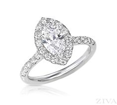 Marquise Engagement Ring with Halo