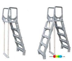 Swimming Pool:Swing Up Both Swimming Pool Ladder Pads Above Ground Swimming Pool  Ladder Pad Ladder For 30 Inch Pool 60 Inch Pool Ladders Parts Easy Incline  ...