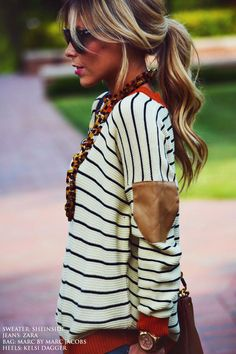 Fall fashion hair - low lights & bright pieces
