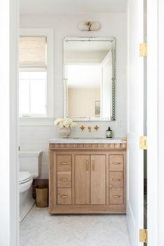 The McGee Home: Wren's Room Photo Tour - Studio McGee Bad Inspiration, Bathroom Inspiration, Small Bathroom, Master Bathroom, Bathroom Ideas, Bathroom With Window, White Bathroom, Estudio Mcgee, Home Luxury