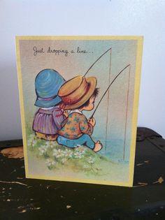 Vintage Get Well Soon Textured Greeting Card