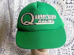 f453a687f07 VINTAGE QUAKER STATE RACING HAT CAP-SNAP BACK-FOAM-TRUCKER-GREEN-KING  SPORTS  fashion  clothing  shoes  accessories  vintage  vintageaccessories  (ebay link)