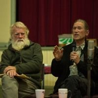 Bruce Pascoe and David Holmgren refer to the past to augment the future in the Daylesford Town Hall, April 7 David Holmgren, Co Founder, Permaculture, Landing, The Past, Daylesford, April 7, Town Hall, Music