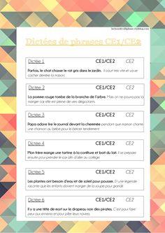 Dictées de phrases CE1-CE2