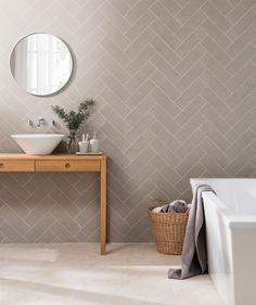 Bath Tiles Texture 67 Ideas For 2019 Chevron Tile, Herringbone Tile, Bath Tiles, Room Tiles, Brick Tiles Bathroom, Tiling, Kitchen Backsplash, Bathroom Renos, Small Bathroom
