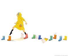 "Photo from album ""Rie Nakajima"" on Yandex. Japan Illustration, Graphic Design Illustration, Clouds And Rain, Kim Joon, Moe Anime, Childrens Books, Watercolor Art, Character Design, Artsy"