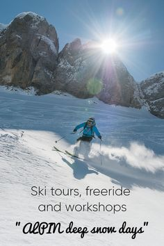About 500 participants are testing current ski, boots, avalanche sets, poles, jackets, trousers and more. In addition, numerous guided ski tours, freeride programs and workshops are offered. #kleinwalsertal #visitvorarlberg Ski Touring, Ski Boots, Cultural Events, Deep, Mount Everest, Skiing, Workshop, Trousers, Snow
