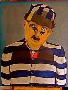 tragedia y comedia el genio de #,Charles Chaplin,#oleo